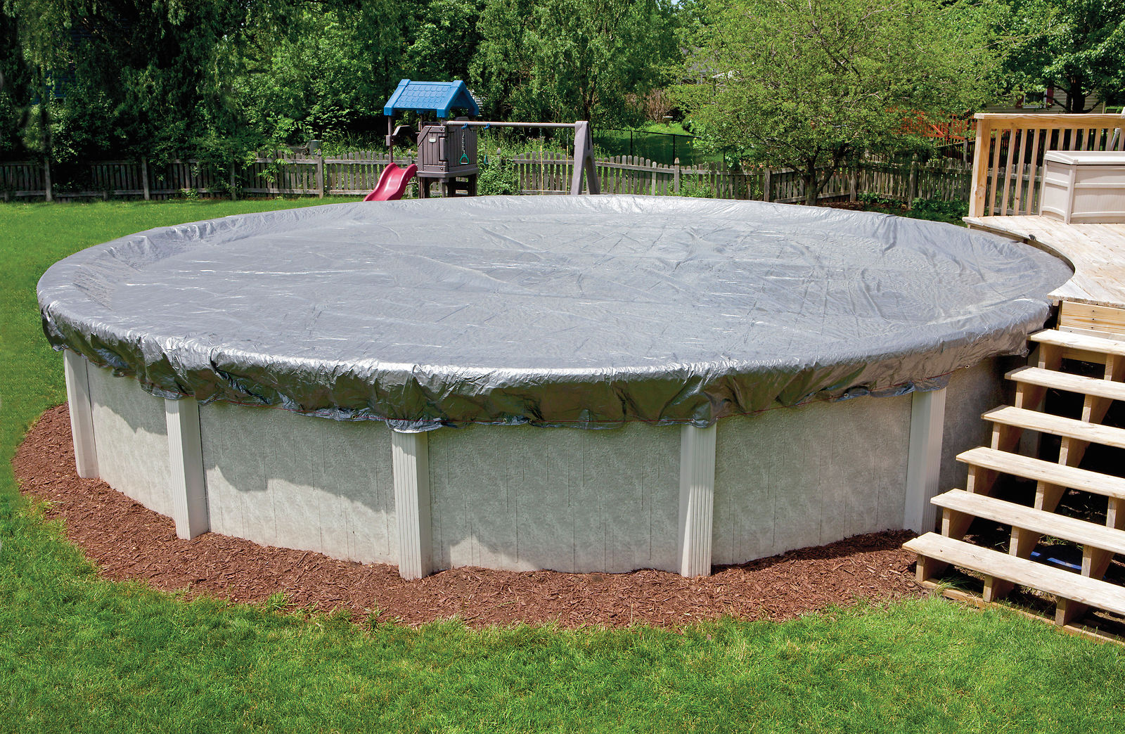 Details about 12\' ft Round Above Ground Swimming Pool Winter Cover - 16  Year Warranty