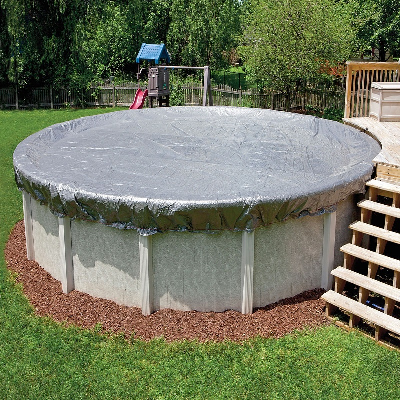 Details about 18\' ft Round Above Ground Swimming Pool Winter Cover - 16  Year Warranty