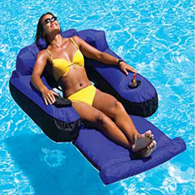 Miraculous Details About Swimline Ultimate Fabric Covered Inflatable Swimming Pool Lounger Float Ocoug Best Dining Table And Chair Ideas Images Ocougorg
