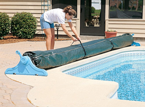 Details about Protective Winter Cover For Swimming Pool Solar Blanket Reel  Roller Up To 16\' W