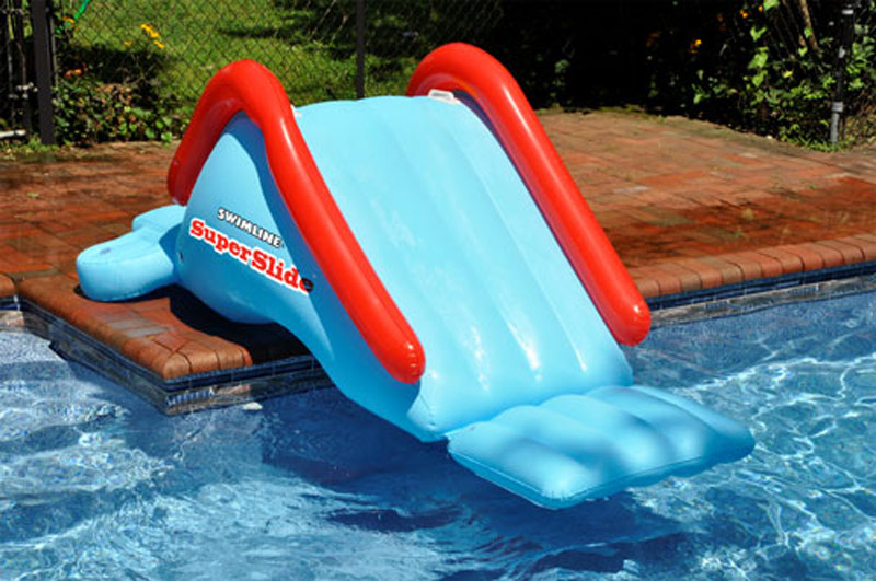 Details about Swimline SuperSlide Inground Swimming Pool Giant Inflatable  Water Slide For Kids