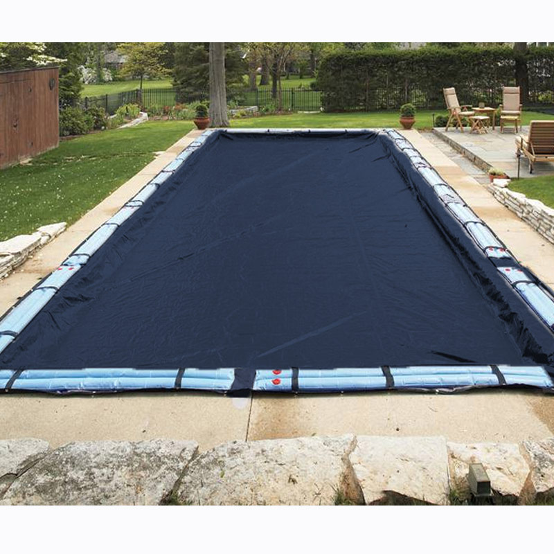 30 ft x 50 ft rectangle 8 year in ground swimming pool - A rectangular swimming pool is 30 ft wide ...