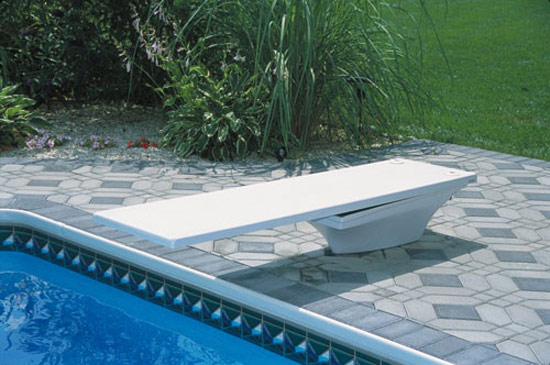 Details about SR Smith Flyte Deck II Stand And 6\' Fiber Swimming Pool  Diving Board Combination