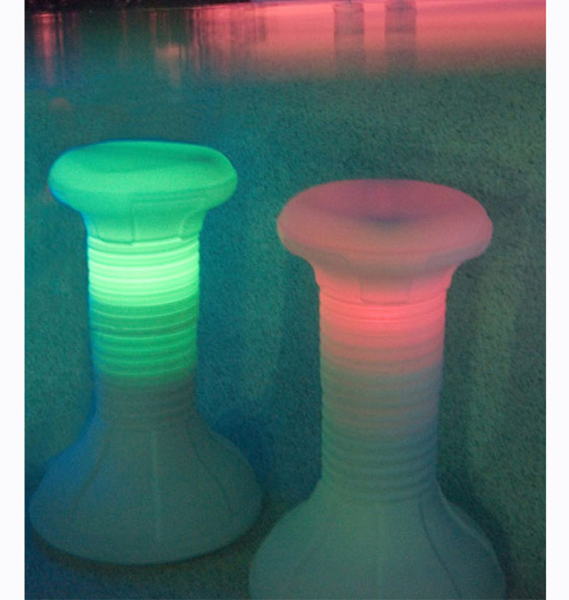 Details about The Pool Stool LED Lighted Barstool For Swimming Pool Bar | 1  Stool
